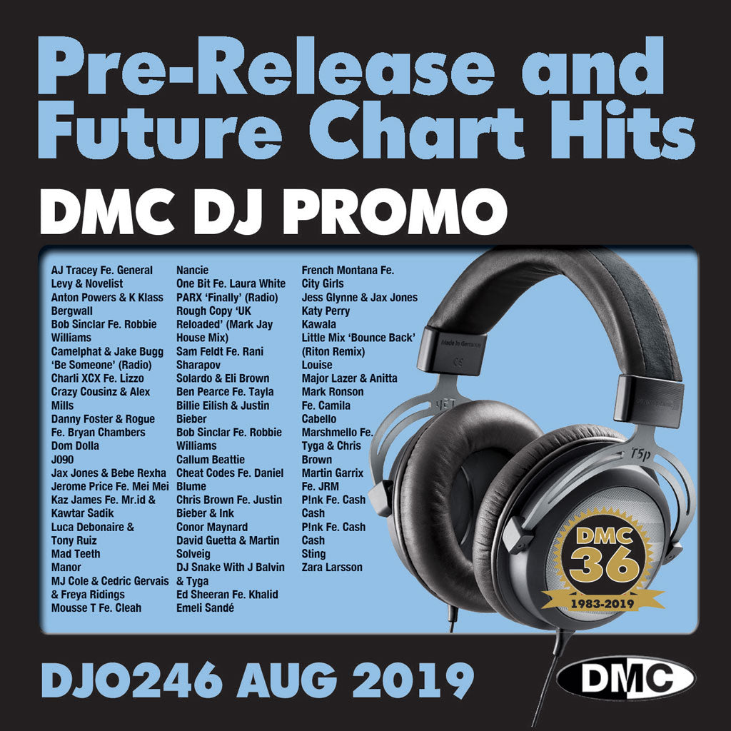 DMC DJ PROMO 246 - PRE RELEASE AND FUTURE CHART HITS!  (2 x CD) - August 2019 release