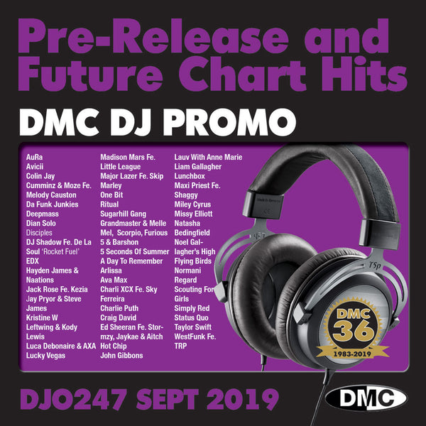 DMC DJ PROMO 247 - PRE RELEASE AND FUTURE CHART HITS!  (2 x CD) - September 2019 release