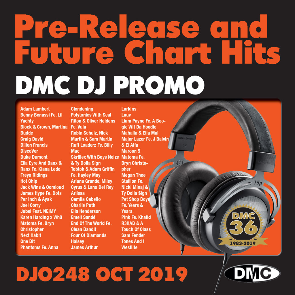DMC DJ PROMO 248 PRE RELEASE AND FUTURE CHART HITS!  (2 x CD) - October 2019