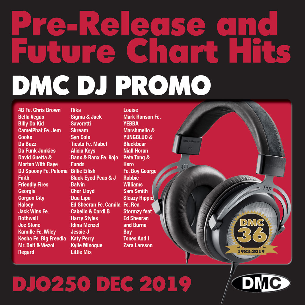 Check Out DMC DJ PROMO 250   -   PRE RELEASE AND FUTURE CHART HITS!  (2 x cd) - December 2019 On The DMC Store