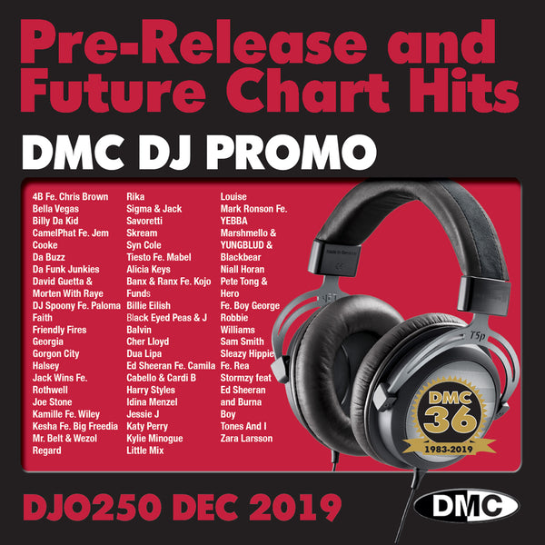 DMC DJ PROMO 250   -   PRE RELEASE AND FUTURE CHART HITS!  (2 x cd) - December 2019