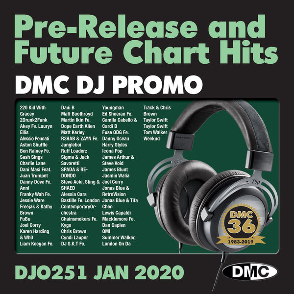 DMC DJ PROMO 251 - Double CD of Pre-Releases and future Chart Hits - January 2020 issue - out now