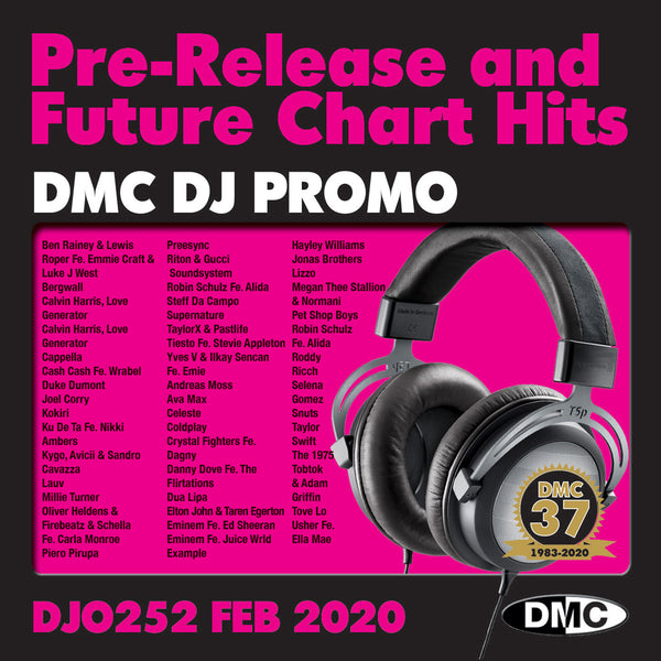 DMC DJ PROMO 252 - Double CD of pre-releases - February 2020 release