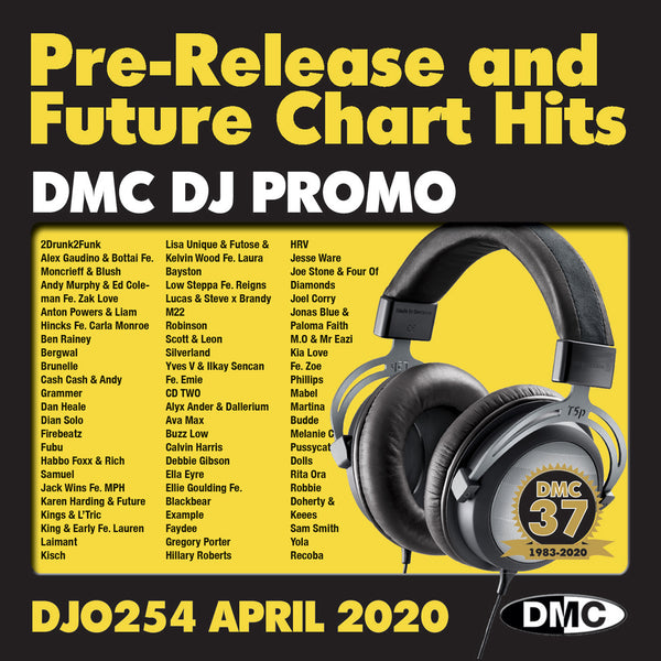 DMC DJ PROMO 254   -   PRE RELEASE AND FUTURE CHART HITS!  (2 x cd) - April 2020 release