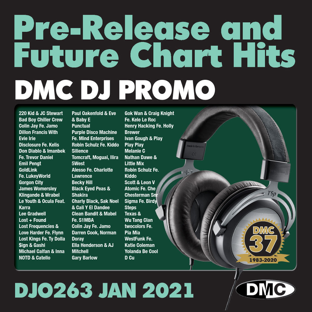 DMC DJ PROMO 263 - January 2021 issue - out now - NEW RELEASE