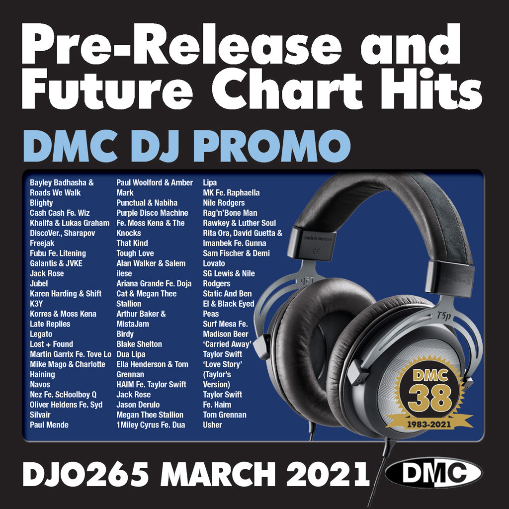 Check Out DMC DJ PROMO 265 - 2xCD - March 2021 release On The DMC Store