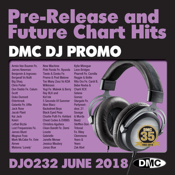 DMC DJ PROMO  232  - Double CD - JUNE 2018