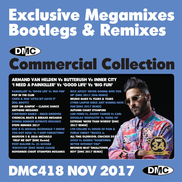 DMC COMMERCIAL COLLECTION 418  Exclusive Megamixes,Bootlegs & Remixes-November 2017