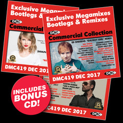 DMC COMMERCIAL COLLECTION 419 - Exclusive Megamixes, Bootlegs & Remixes for DJs - DECEMBER 2017 - Triple CD