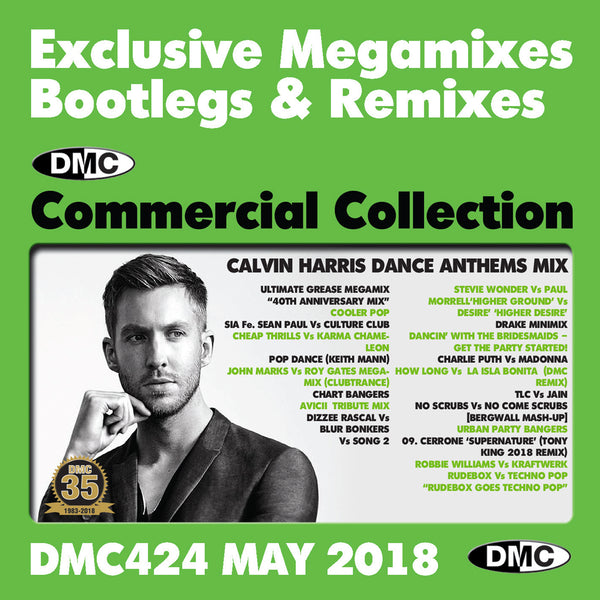 DMC COMMERCIAL COLLECTION 424 EXCLUSIVE... MEGAMIXES  REMIXES TWO TRACKERS - MAY 2018