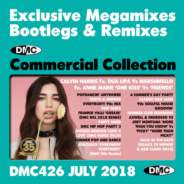 DMC COMMERCIAL COLLECTION 426 - Exclusive Megamixes, Bootlegs & Remixes - July 2018
