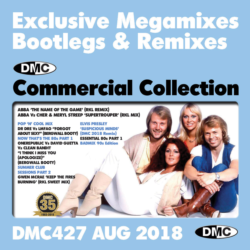 DMC COMMERCIAL COLLECTION 427  - August 2018 - Exclusive Megamixes, Bootlegs & Remixes