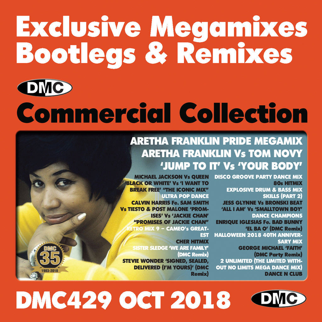 DMC COMMERCIAL COLLECTION 429  Exclusive Megamixes, Remixes & Two Trackers - October 2018