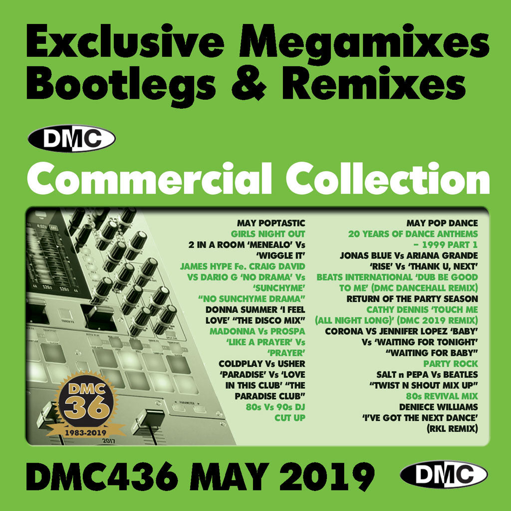 Check Out DMC COMMERCIAL COLLECTION 436 -  Exclusive Megamixes, Remixes & Two Trackers - Release May 2019 On The DMC Store