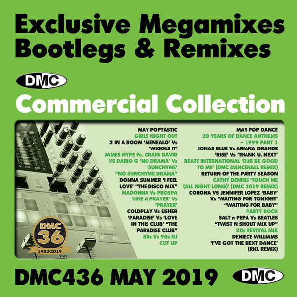 DMC COMMERCIAL COLLECTION 436 -  Exclusive Megamixes, Remixes & Two Trackers - Release May 2019