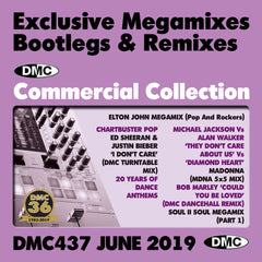DMC COMMERCIAL COLLECTION 437 -  Exclusive Megamixes, Remixes & Two Trackers - TRIPLE CD - June 2019 release