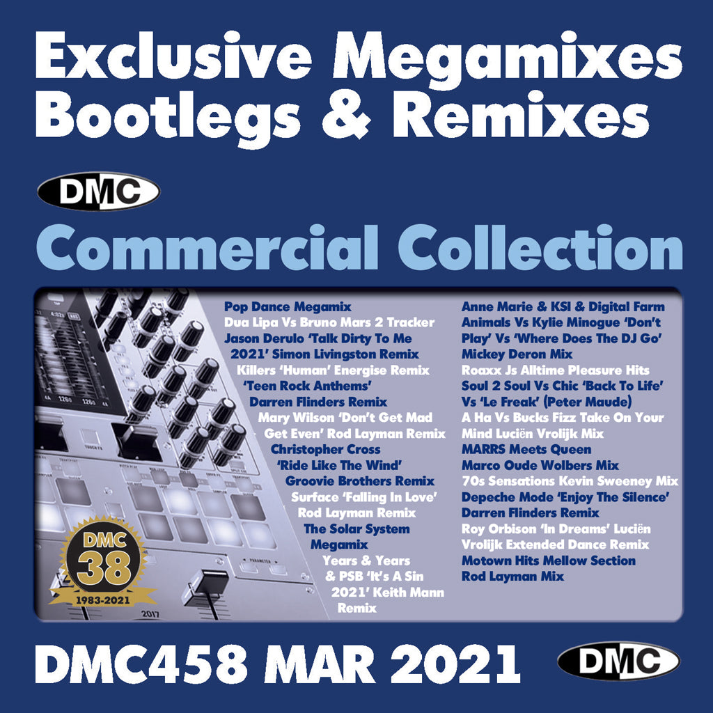 Check Out DMC COMMERCIAL COLLECTION 458 - 2xCD - March 2021 release On The DMC Store