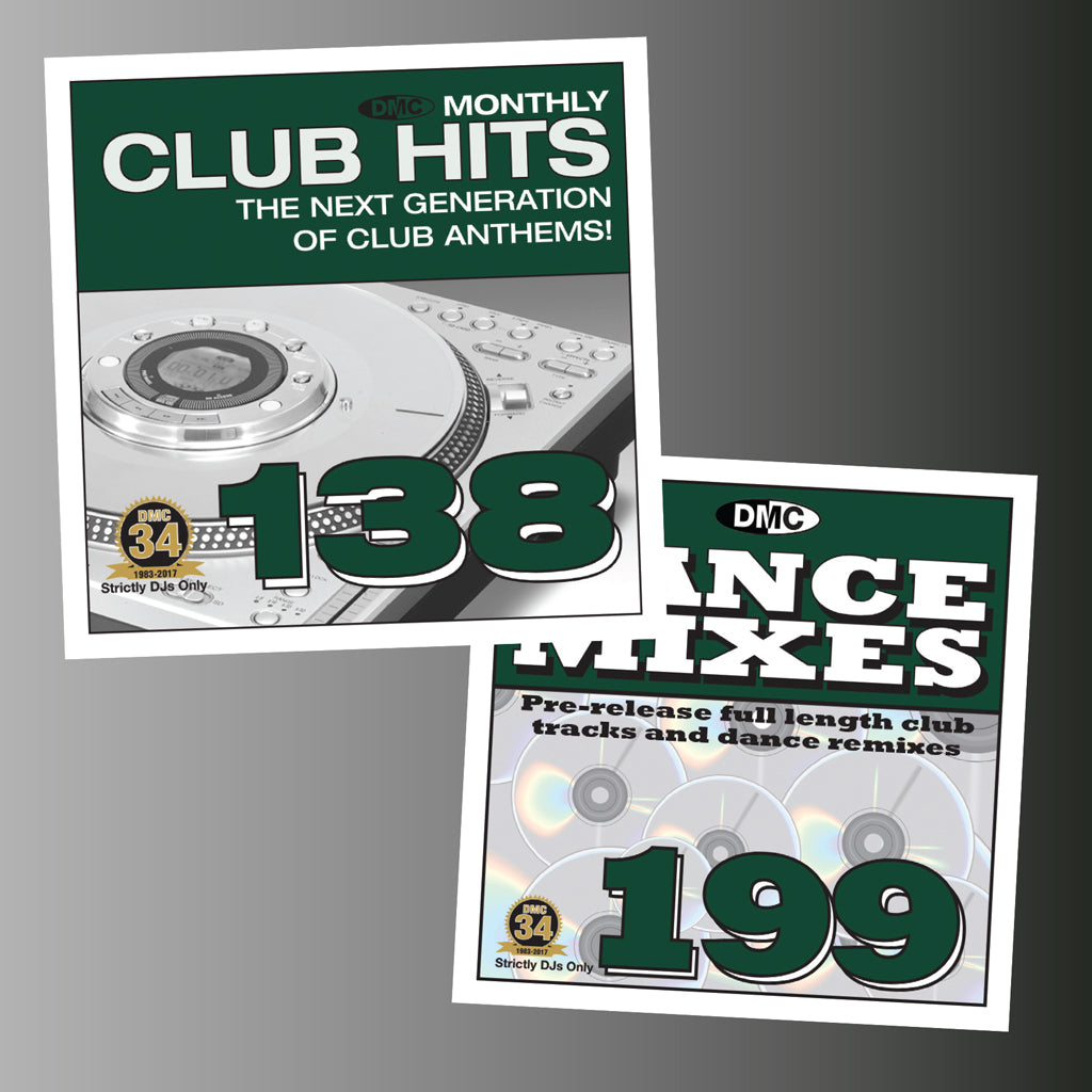 DMC DANCE MIXES 199 & CLUB HITS 138 - Mid JANUARY 2018 Releases - Buy both and save 20%
