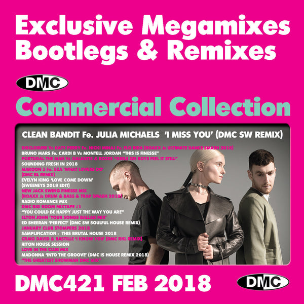DMC Commercial Collection 421 - February 2018 - Exclusive Megamixes, Bootlegs & Remixes for Professional DJs