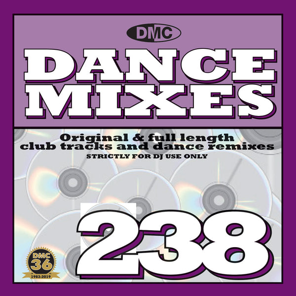 DANCE MIXES 238 (Unmixed) - PRE-RELEASE FULL LENGTH CLUB TRACKS AND DANCE REMIXES- September 2019