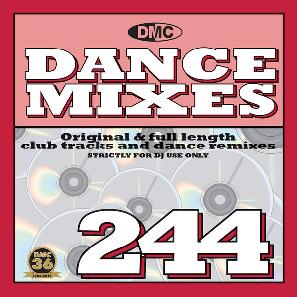 DMC DANCE MIXES 244 - Original & full length club tracks and dance remixes - December 2019