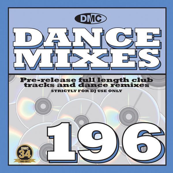DMC DANCE MIXES 196  Full length club tracks and dance remixes for professional djs - November 2017 release