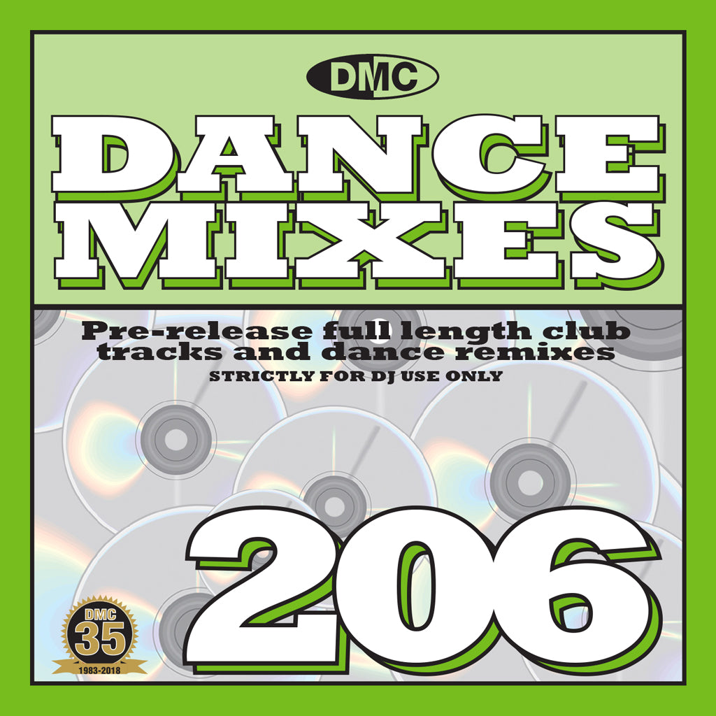 DMC DANCE MIXES 206 PRE-RELEASE FULL LENGTH CLUB TRACKS AND DANCE REMIXES - MAY 2018