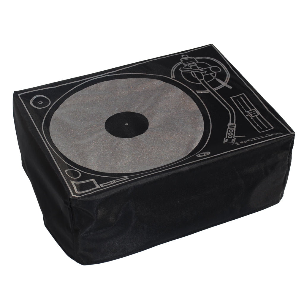 DMC/Technics Deck Cover Black with Silver Print