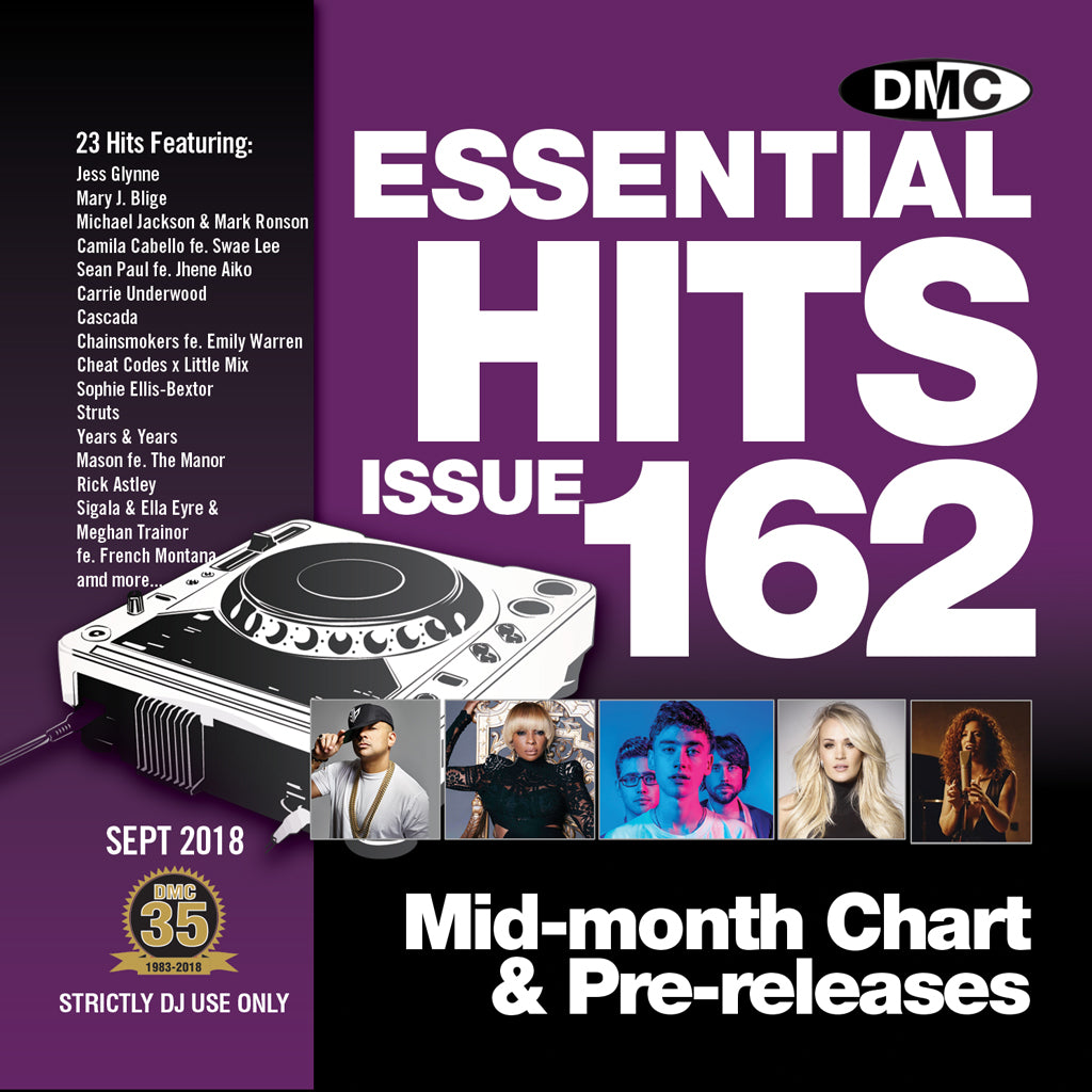 Check Out DMC ESSENTIAL HITS 162 - mid September release On The DMC Store