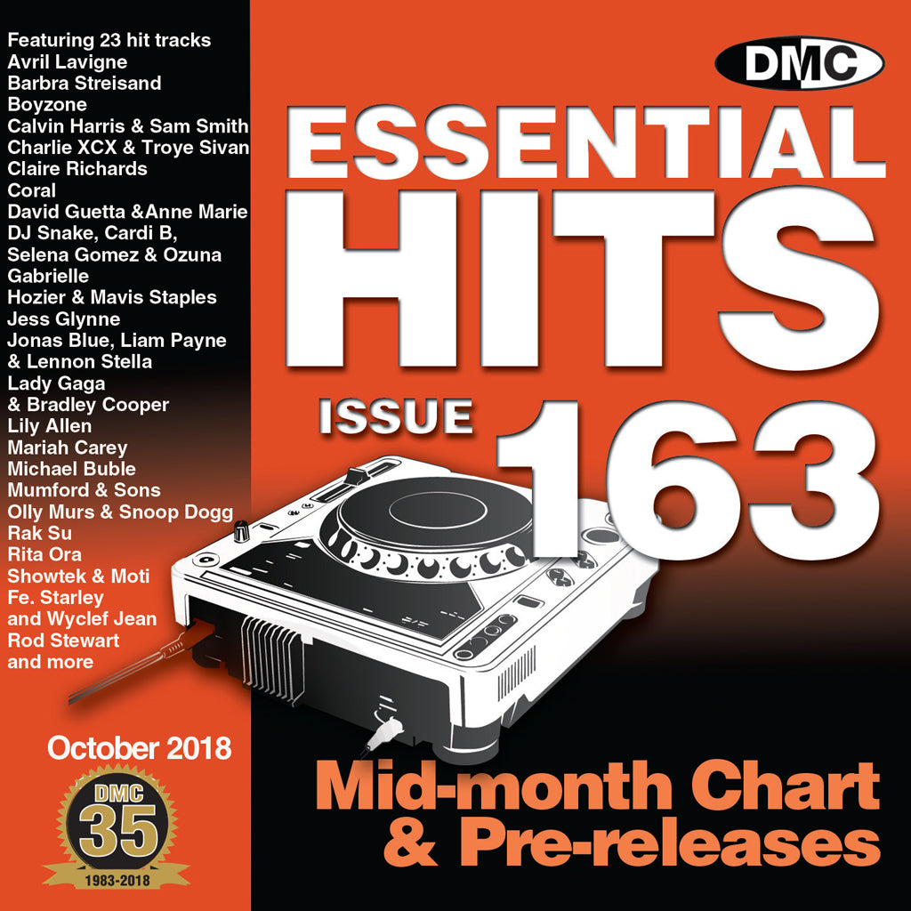 Check Out DMC ESSENTIAL HITS 163 - MID OCTOBER RELEASE On The DMC Store