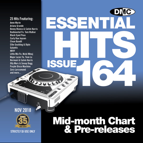 DMC ESSENTIAL HITS 164 (Unmixed) - Mid-November 2018 release