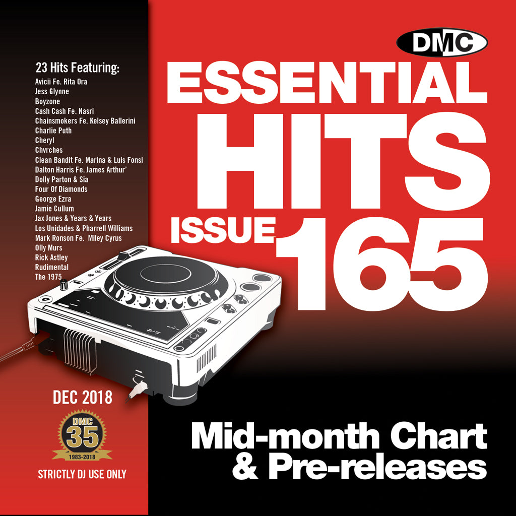 Check Out DMC Essential Hits 165 - Mid December 2018 release On The DMC Store