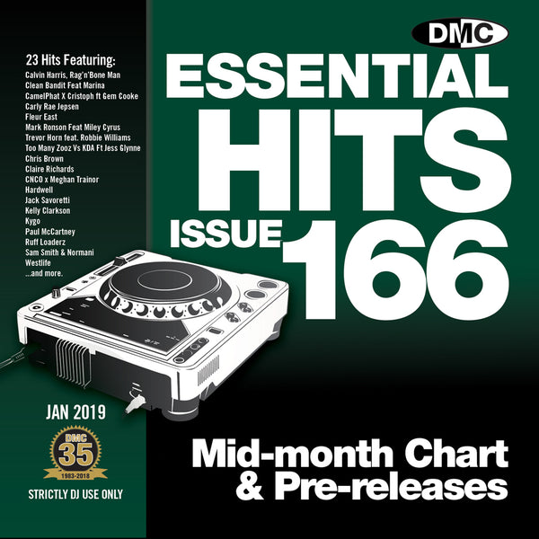 DMC Essential Hits 166 - mid January 2019 release