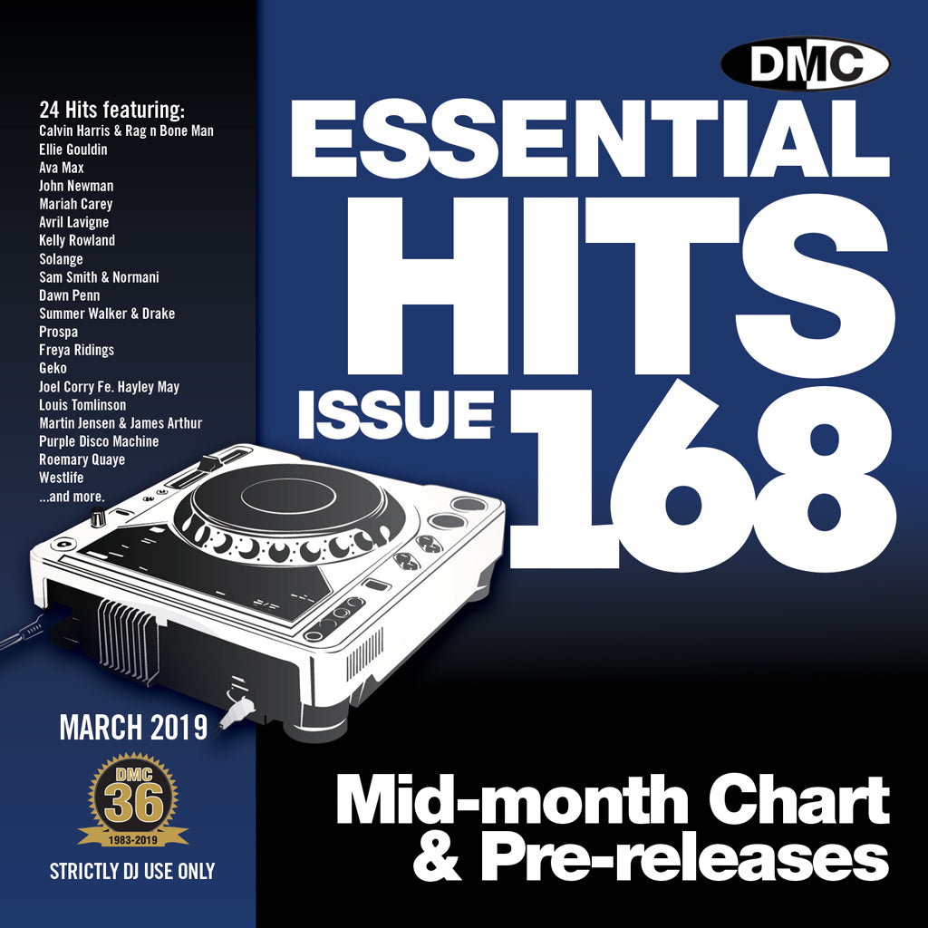 Check Out ESSENTIAL HITS 168 (Unmixed)  Essential chart & pre-releases for djs On The DMC Store