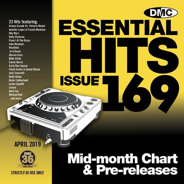 DMC ESSENTIAL HITS 169 (Unmixed) - released April 2019