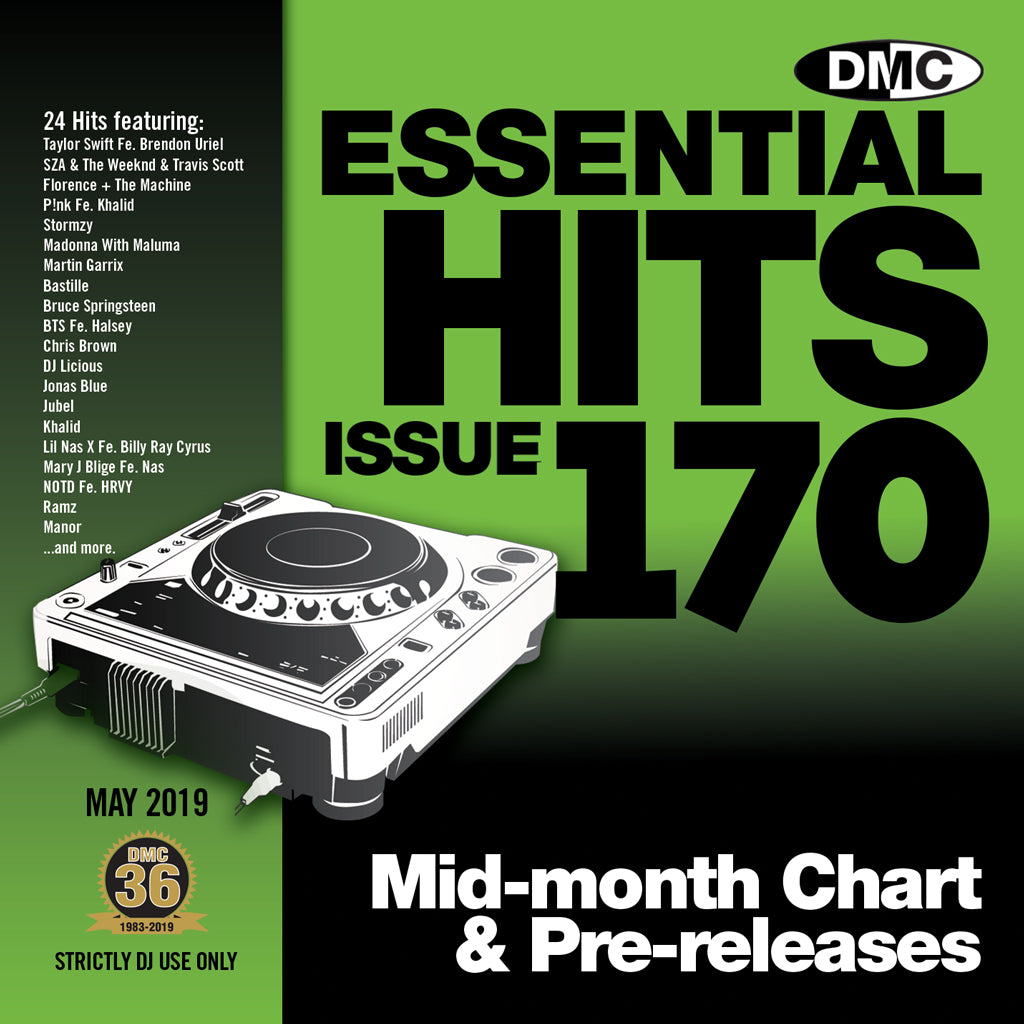 Check Out ESSENTIAL HITS 170 - (Unmixed) - Essential chart & pre-releases -   May 2019 release On The DMC Store
