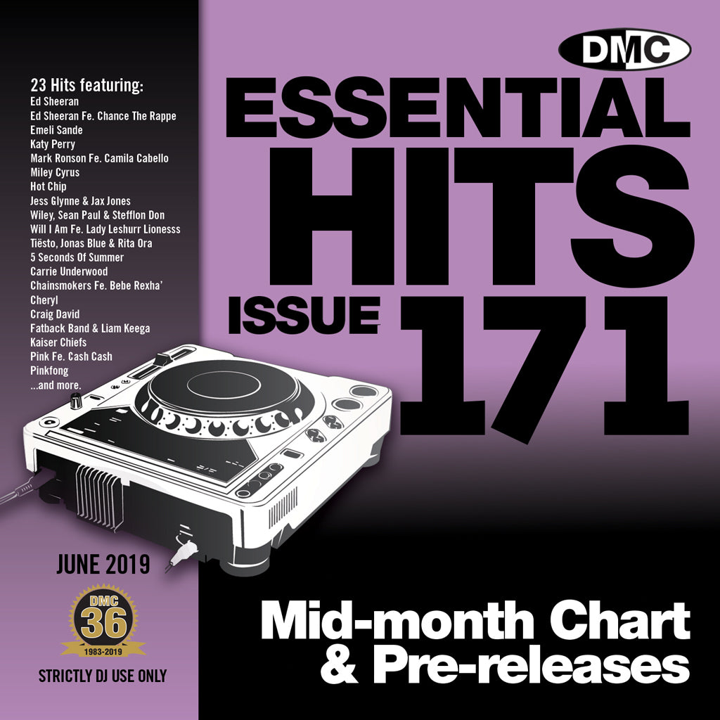 ESSENTIAL HITS 171 (Unmixed) - Essential chart & pre-releases for djs - June 2019 release