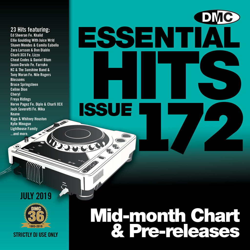 DMC ESSENTIAL HITS 172 (Unmixed) -  Essential chart & pre-releases -July 2019