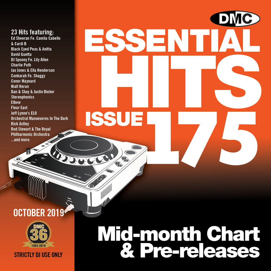 Check Out DMC ESSENTIAL HITS 175 (Unmixed) - Essential chart & pre-releases - October 2019 On The DMC Store