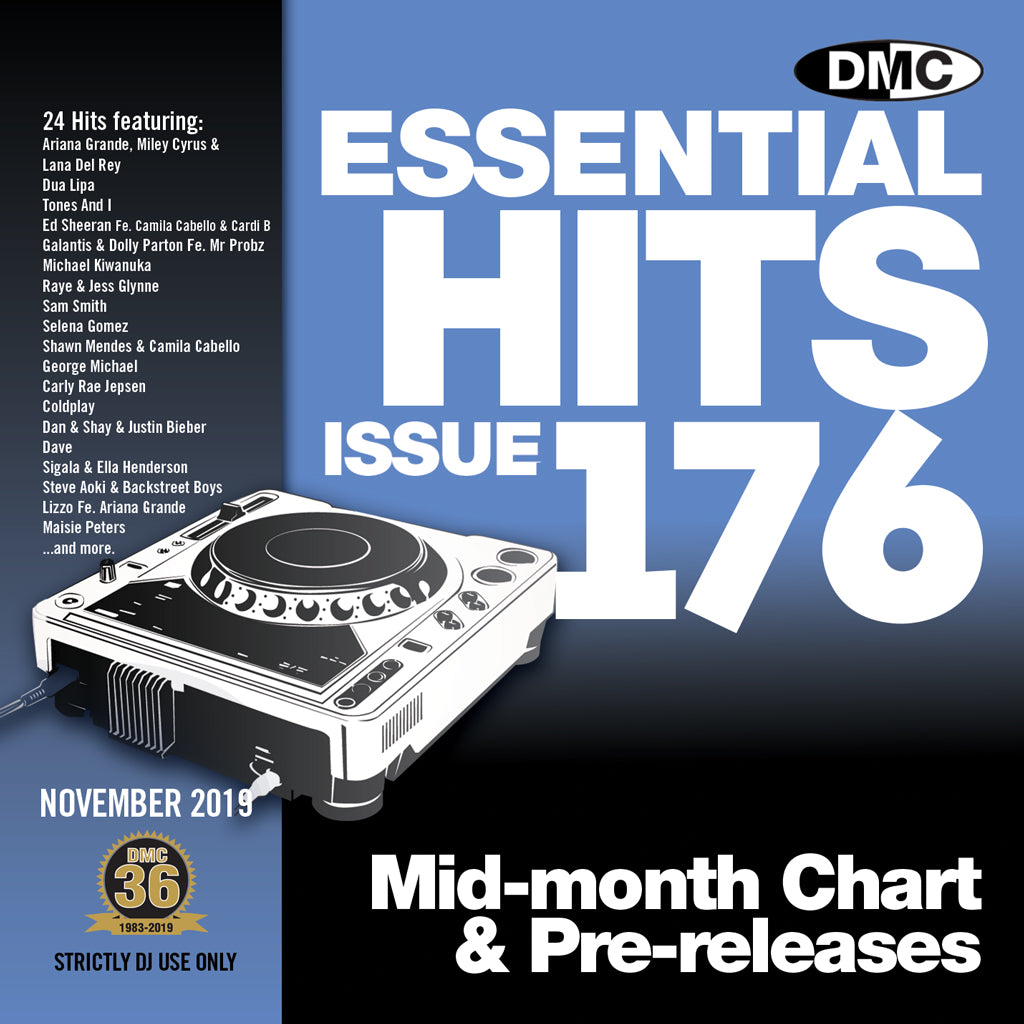 ESSENTIAL HITS 176 (Unmixed)  Essential chart & pre-releases - November 2019