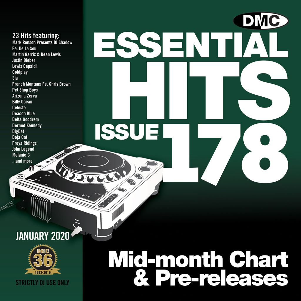 Check Out DMC ESSENTIAL HITS 178 - January 2020 On The DMC Store