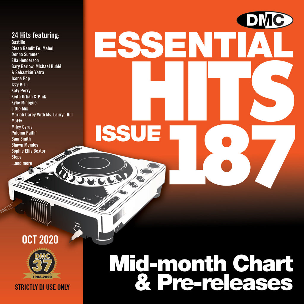 Check Out DMC ESSENTIAL HITS 187 - mid October 2020 release On The DMC Store