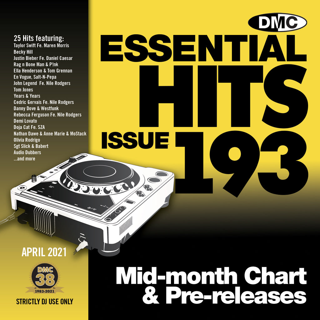 Check Out DMC ESSENTIAL HITS 193 - mid April 2021 release On The DMC Store