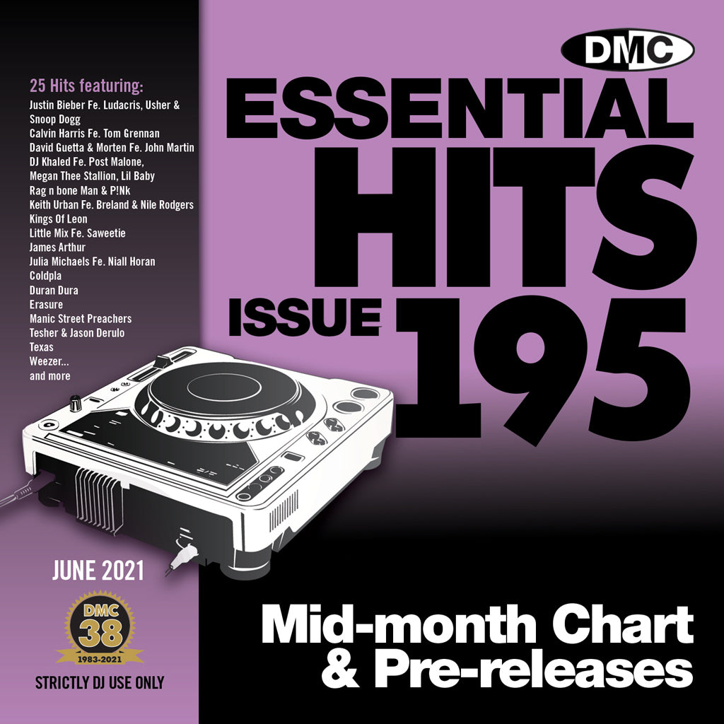 Check Out DMC ESSENTIAL HITS 195 - mid June 2021 release On The DMC Store