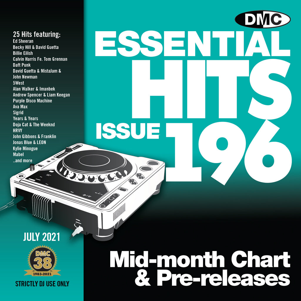 Check Out DMC ESSENTIAL HITS 196 - mid July 2021 release On The DMC Store