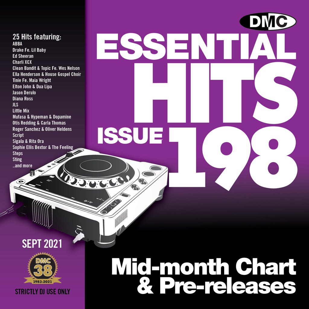 Check Out DMC ESSENTIAL HITS 198 - SEPTEMBER 2021 release On The DMC Store