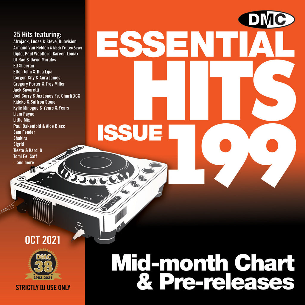 Check Out DMC ESSENTIAL HITS 199 - mid October 2021 release On The DMC Store