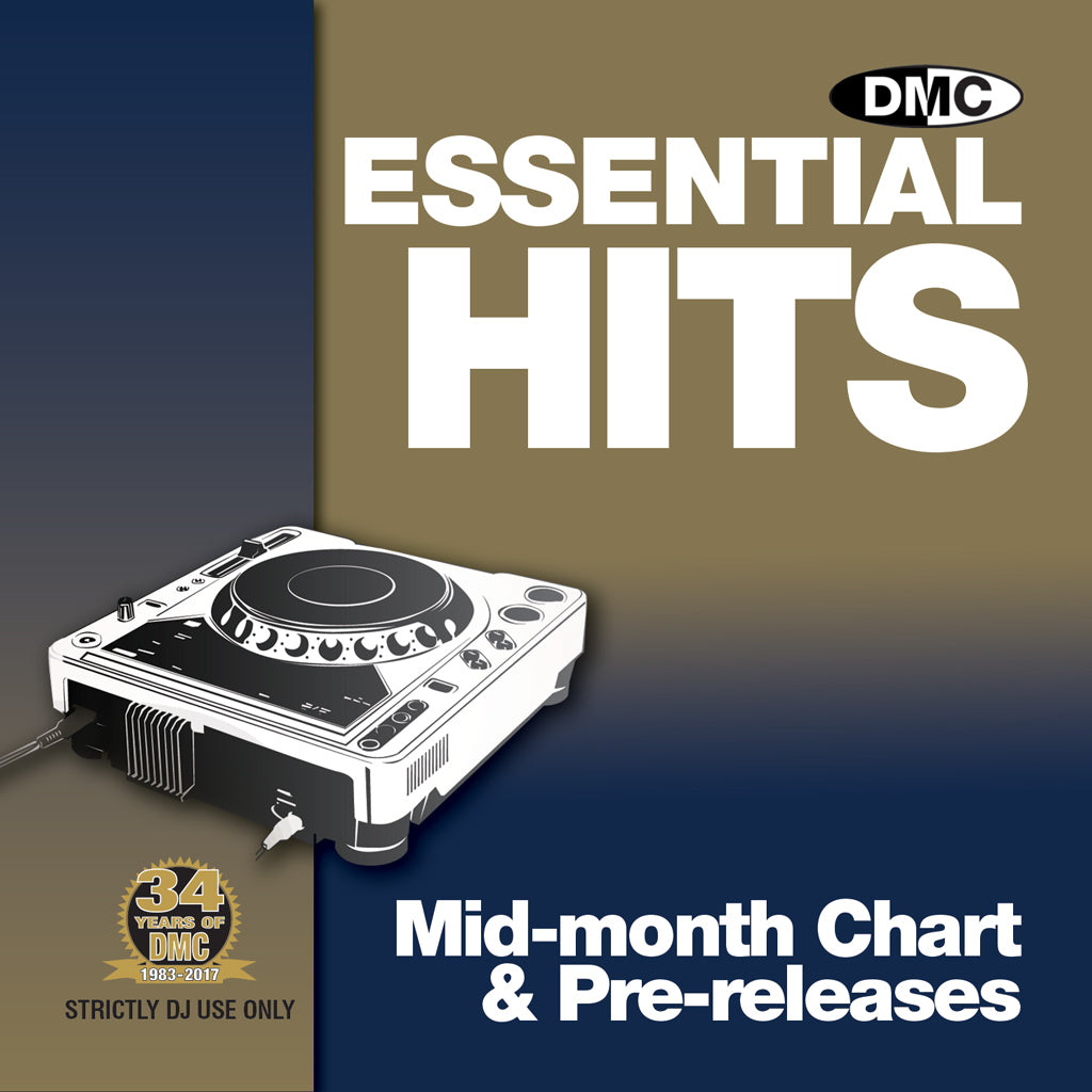 DMC DJ SUBSCRIPTION - 12 MONTHS – ESSENTIAL HITS - Mid Month CD - UK ONLY - plus only 1 postage payment, 11 months FREE postage - Mid month chart releases perfect for professional & mobile djs