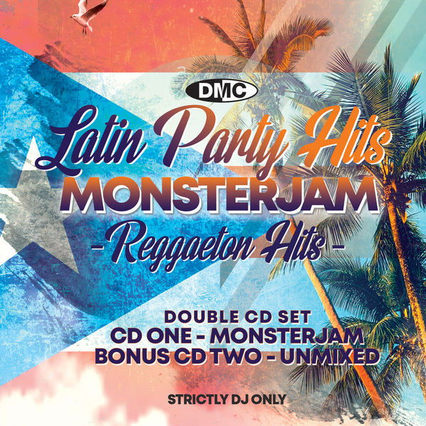 DMC LATIN PARTY HITS MONSTERJAM 1 -  REGGAETTON's GREATEST HITS! Double CD - Bonus CD 2 Unmixed tracks