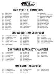 DMC WORLD DJ CHAMPIONSHIP 2018 – The Official T-shirt